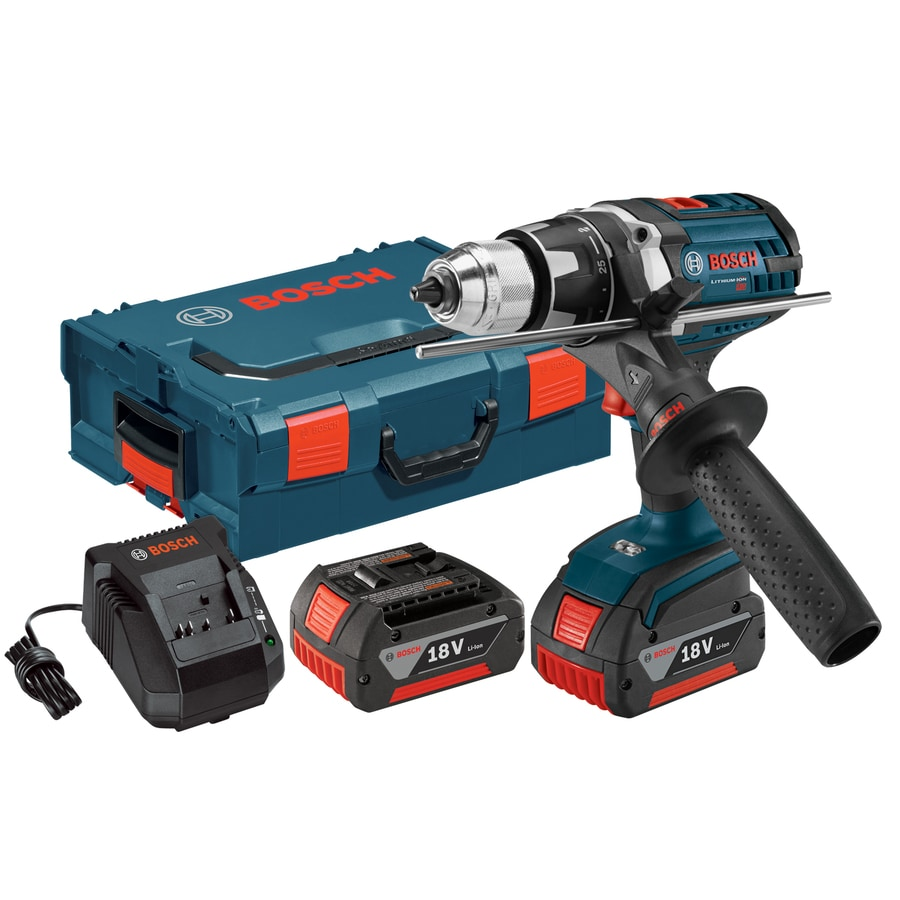 Bosch 18-Volt Lithium Ion (Li-ion) 1/2-in Cordless Drill Battery and Hard Case Included