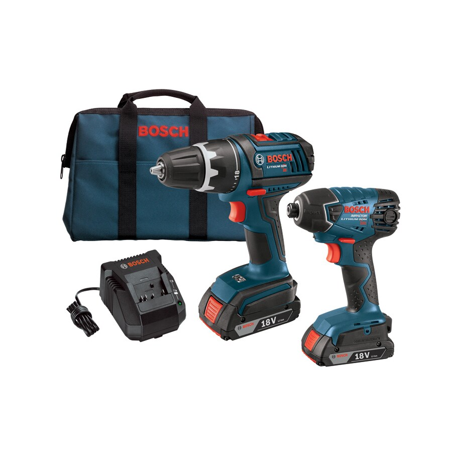 shop bosch 2 tool 18 volt lithium ion li ion cordless combo kit with soft case at. Black Bedroom Furniture Sets. Home Design Ideas