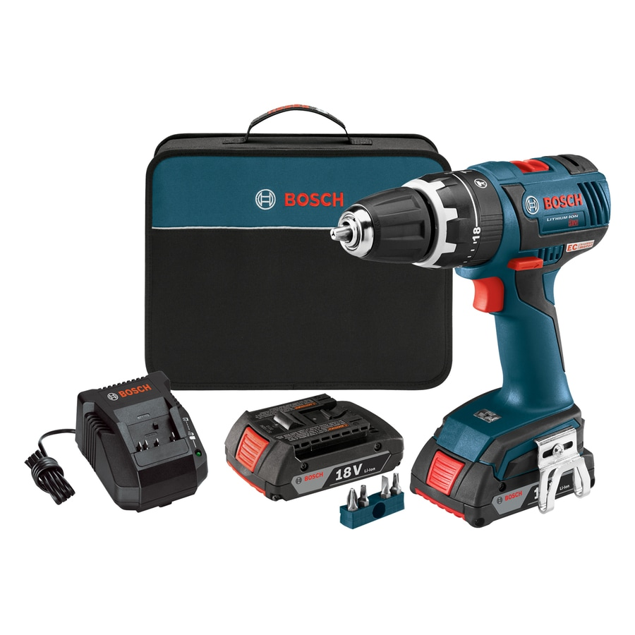 Bosch 1/2-in 18-Volt Lithium Ion (Li-ion) Variable Speed Brushless Cordless Hammer Drill