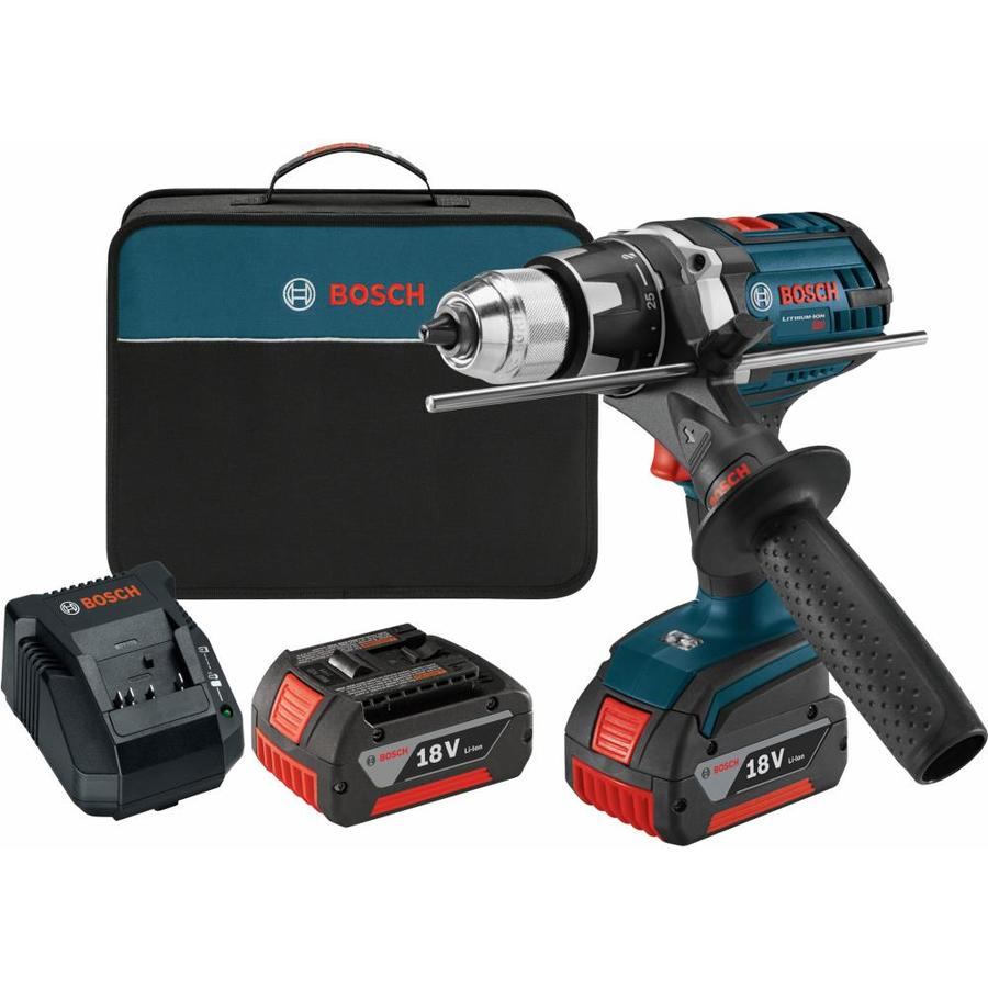 Bosch 18-Volt Lithium Ion (Li-ion) 1/2-in Cordless Drill Battery and Soft Case Included