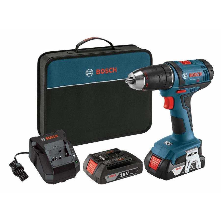 shop bosch 18 volt lithium ion li ion 1 2 in cordless drill with battery and soft case at. Black Bedroom Furniture Sets. Home Design Ideas