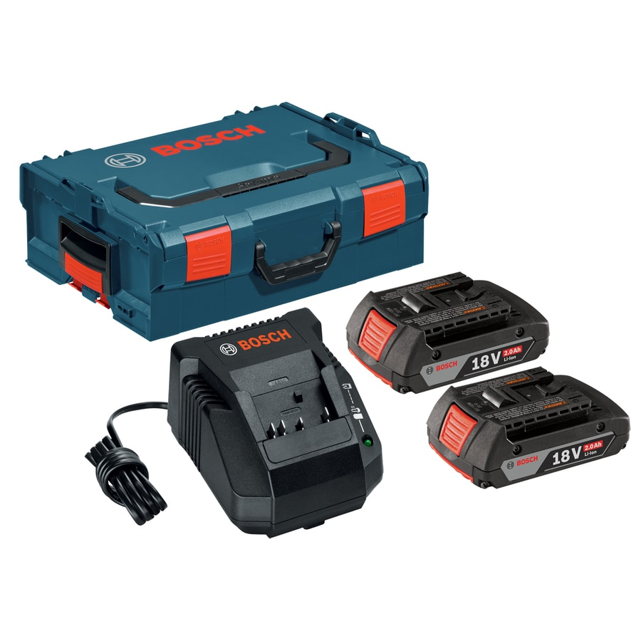 Bosch 2-Pack 18-Volt 2.0-Amp Hours Lithium Power Tool Battery
