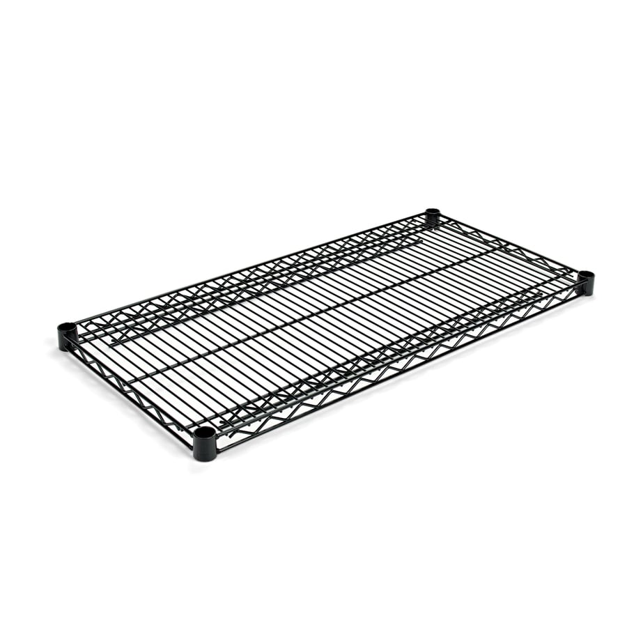 Alera Industrial Kitchen Carts At Lowes Com: Shop Alera 3-ft L X 18-in D Black Wire Shelf At Lowes.com