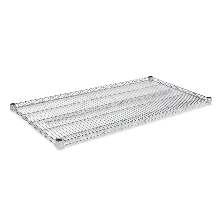 Alera 4-ft L x 24-in D Silver Wire Shelf