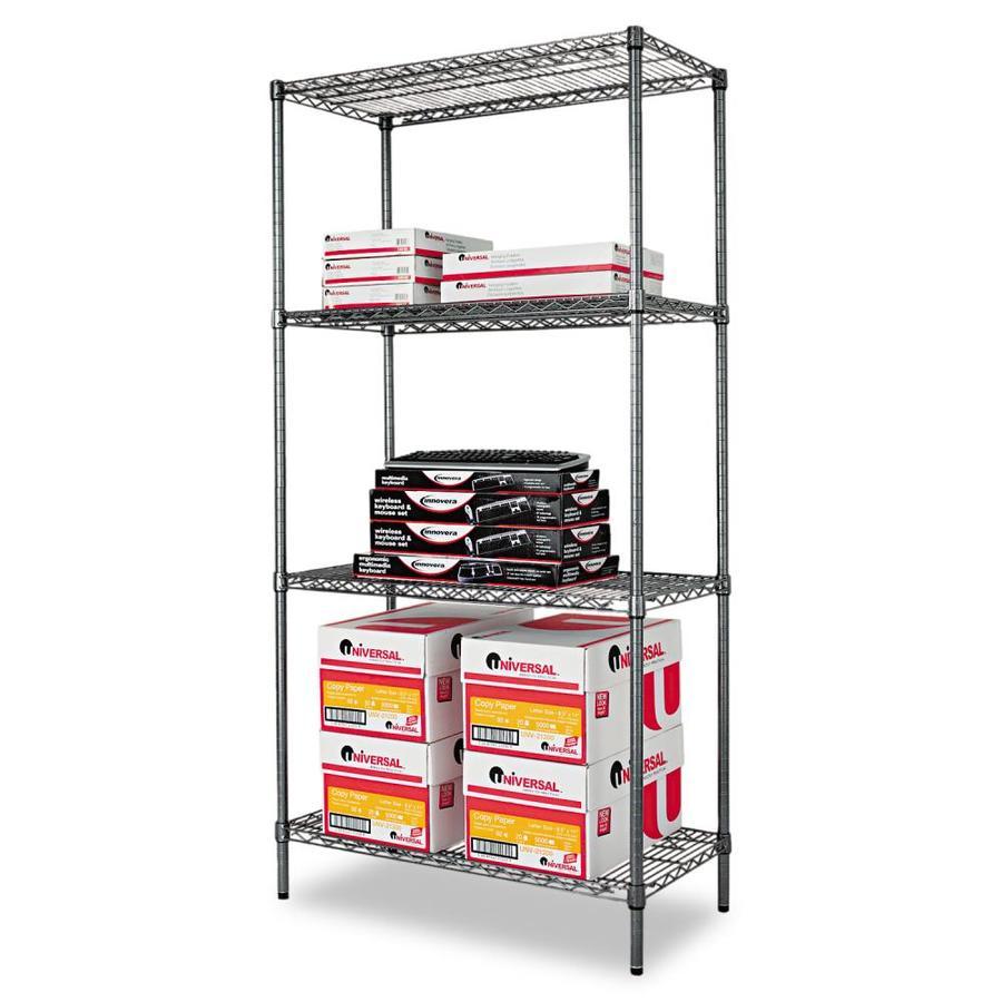 Alera 72-in H x 36-in W x 18-in D 4-Tier Steel Freestanding Shelving Unit