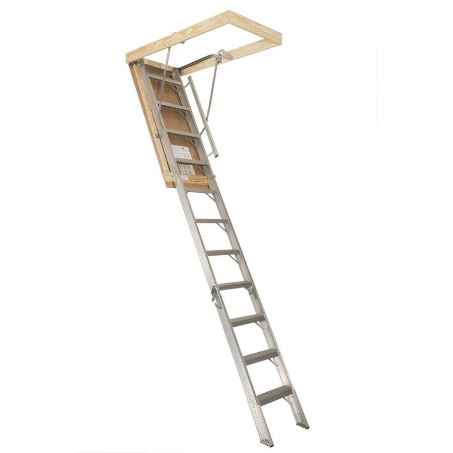 Century Industries, Inc. 12-ft Aluminum 350-lb Type I Attic Ladder