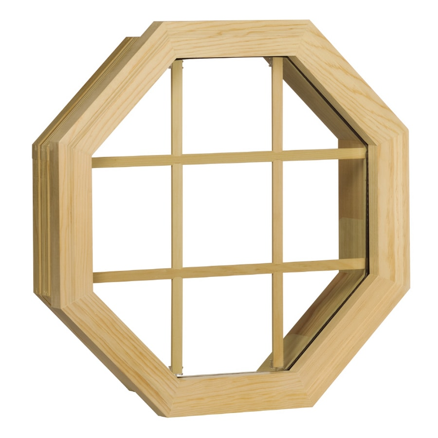 Century Specialty Windows 20.375-in x 20.375-in Windows of Distinction Series Unfinished Wood Double Pane Single Strength Octagon New Construction Window
