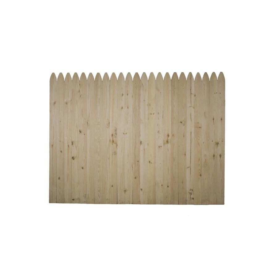 Potomac Supply Corporation 8' x 6' Pine Stockade Wood Fence Panel