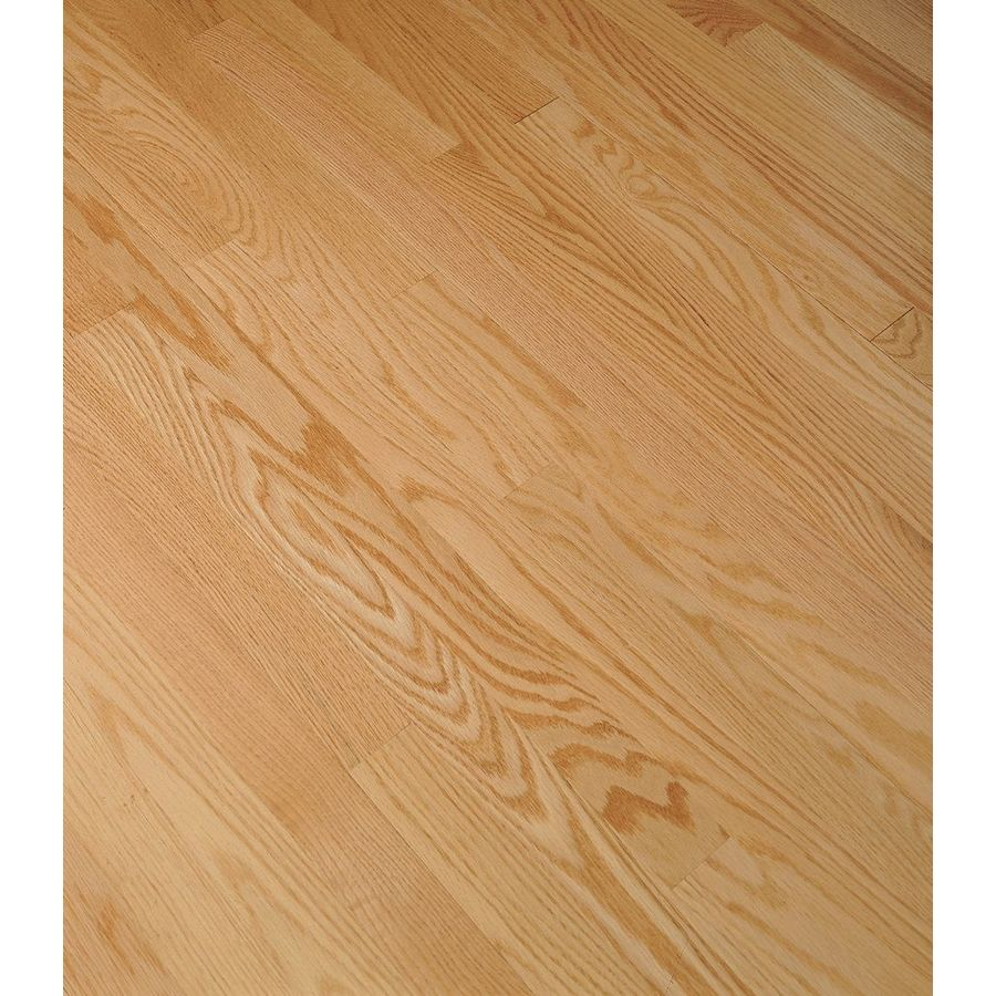 Shop bruce bayport strip w prefinished oak for Hardwood flooring prefinished vs unfinished