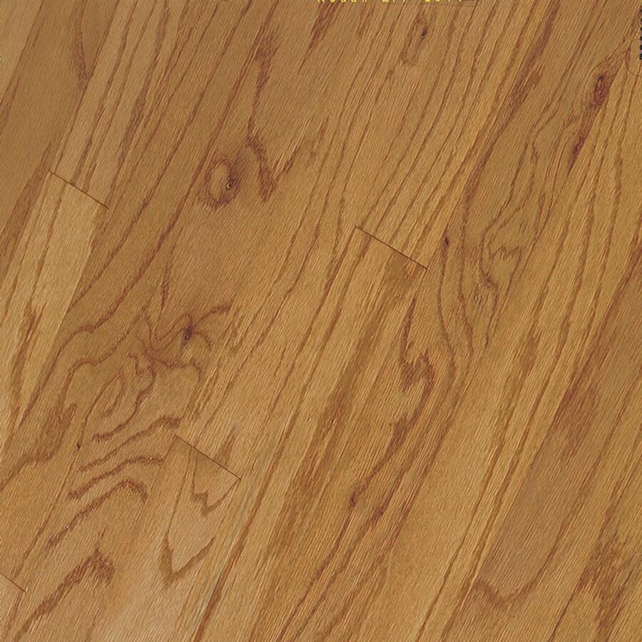 Shop bruce hillden strip w prefinished oak for Prefinished oak flooring