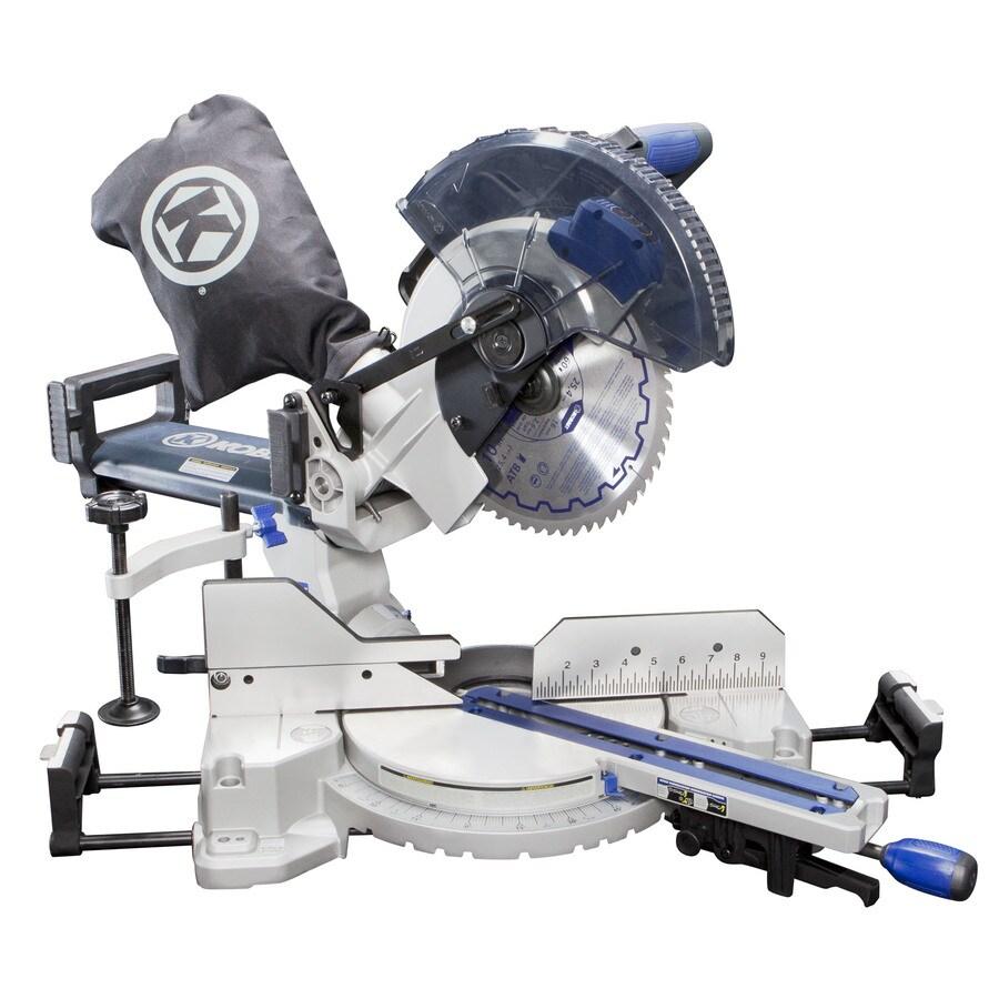 Kobalt 10-in 15-Amp Single Bevel Sliding Compound Laser Miter Saw