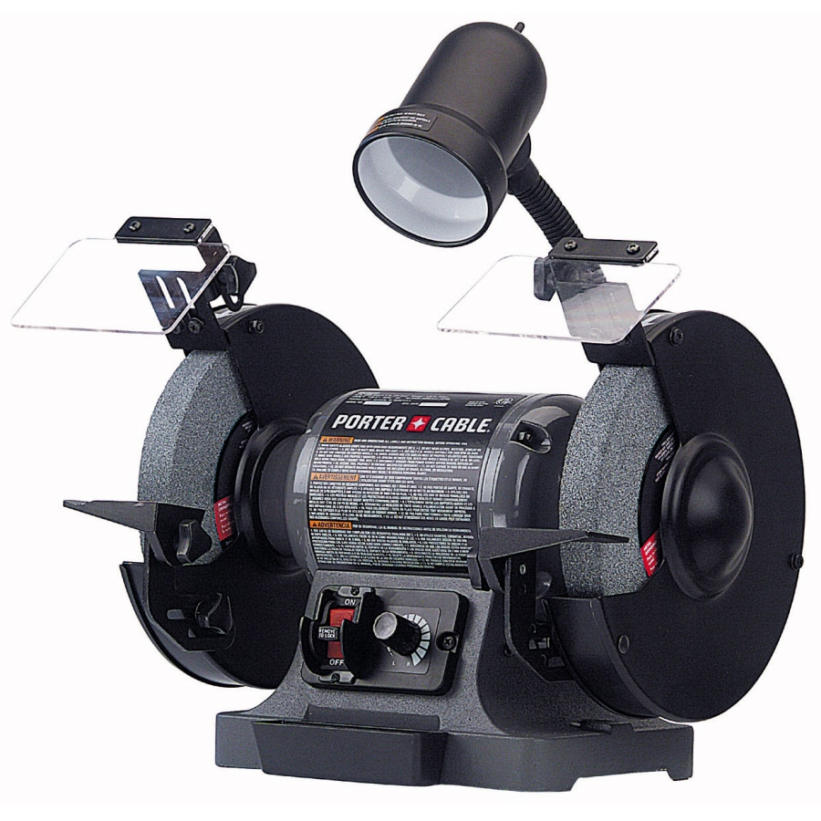 PORTER-CABLE 8-in Variable Speed Bench Grinder with Light