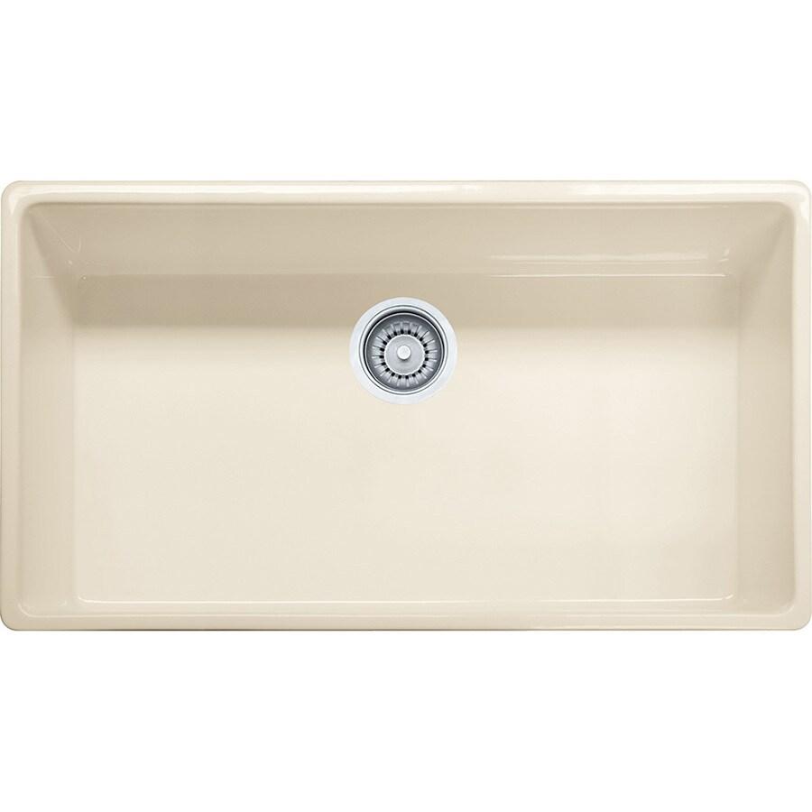 Franke Farm House 20-in x 33-in Linen Single-Basin Fireclay Undermount Residential Kitchen Sink