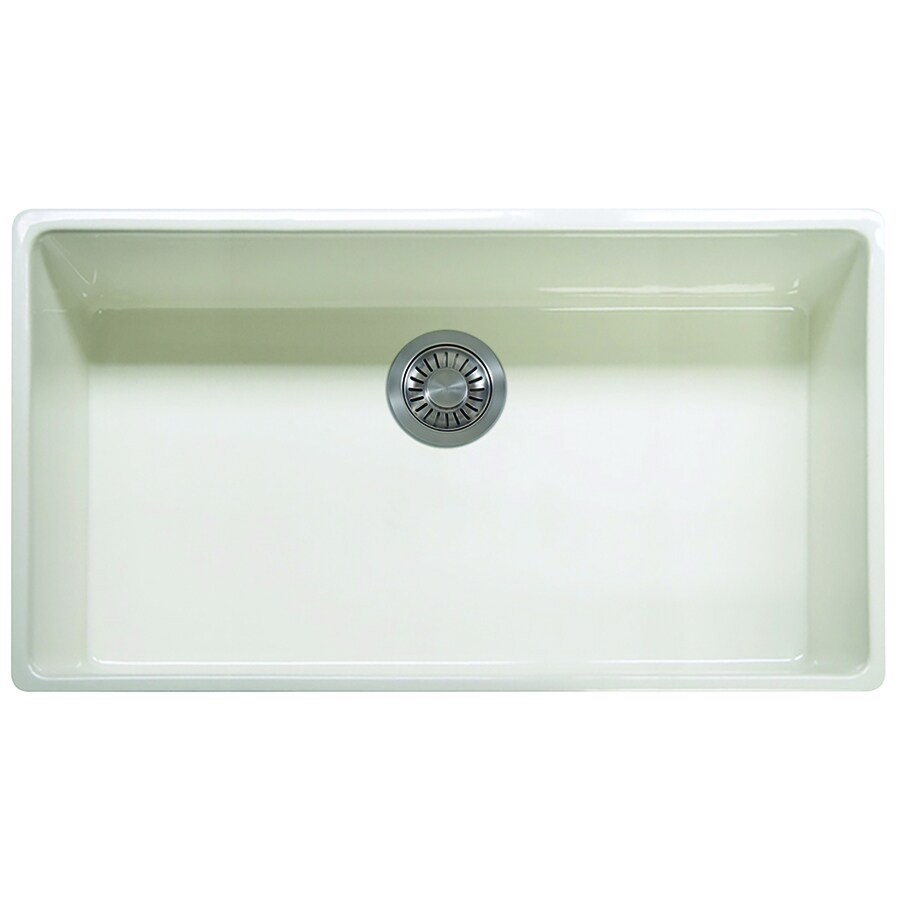 Franke Farm House 20-in x 36-in Linen Single-Basin Fireclay Apron Front/Farmhouse Residential Kitchen Sink