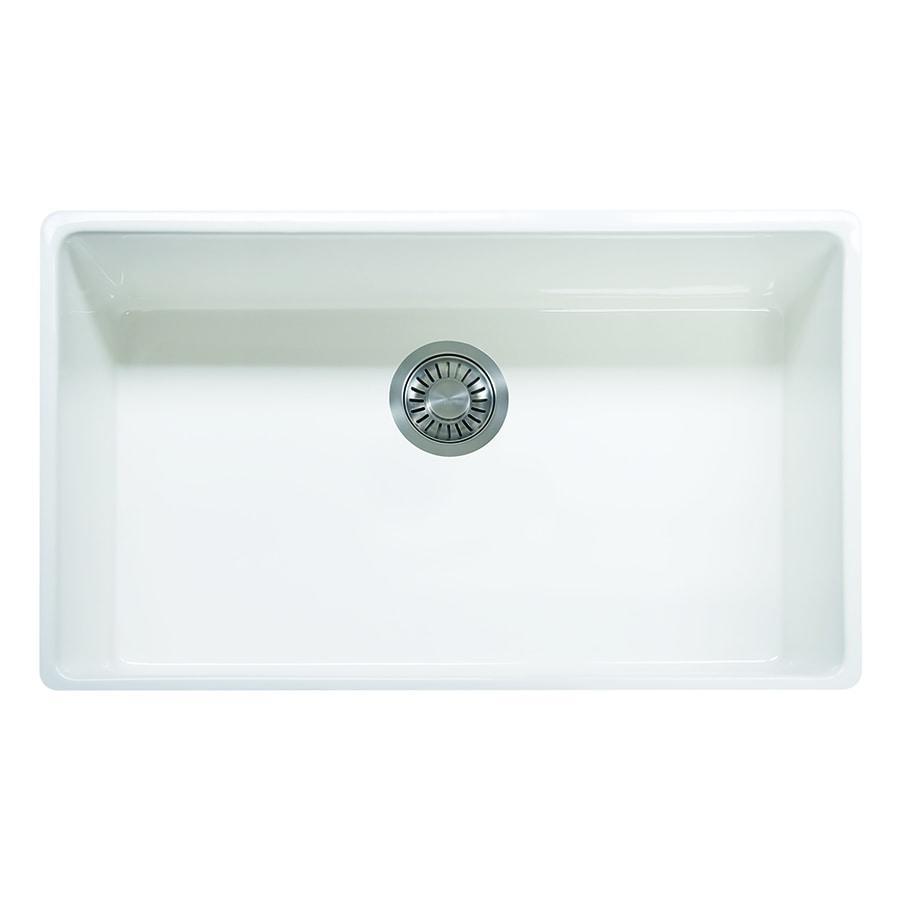 Franke Farmhouse Sink : Franke Farm House 20-in x 33-in White Single-Basin Fireclay Undermount ...