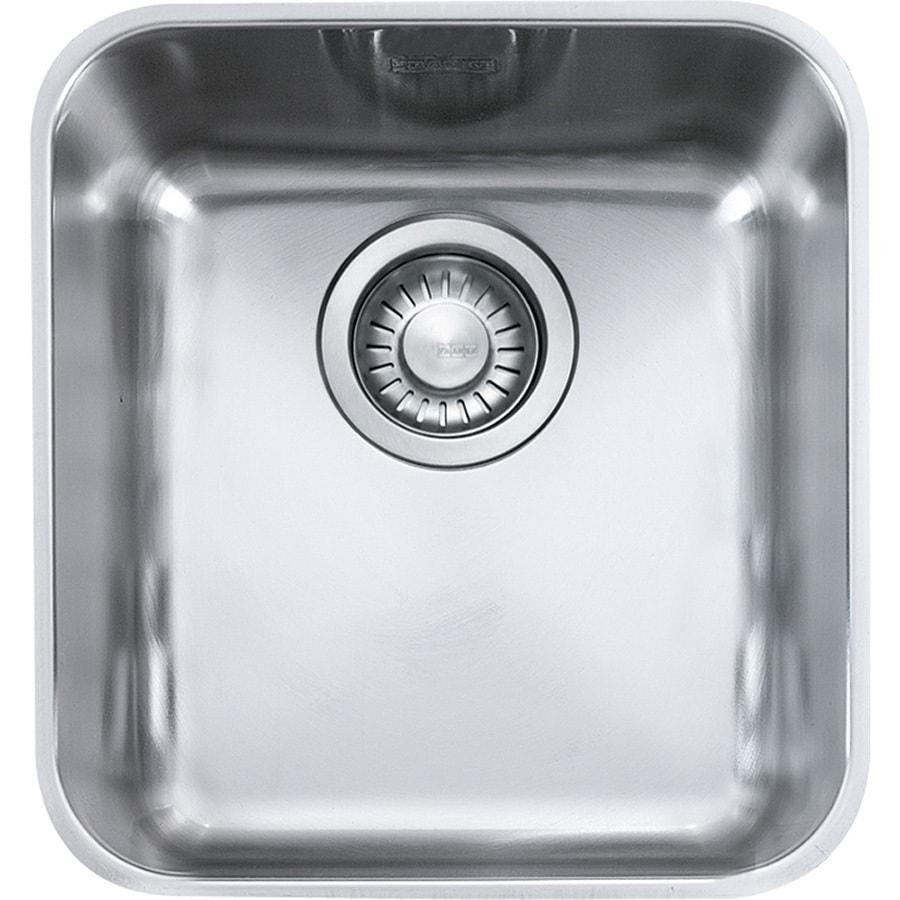 Franke Largo 18.5-in x 16.3125-in Stainless Steel Single-Basin Undermount Residential Kitchen Sink