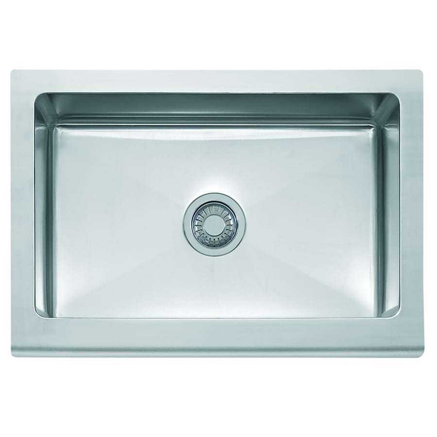 Franke Manor House 20.875-in x 30-in Stainless Steel Single-Basin Apron Front/Farmhouse Residential Kitchen Sink