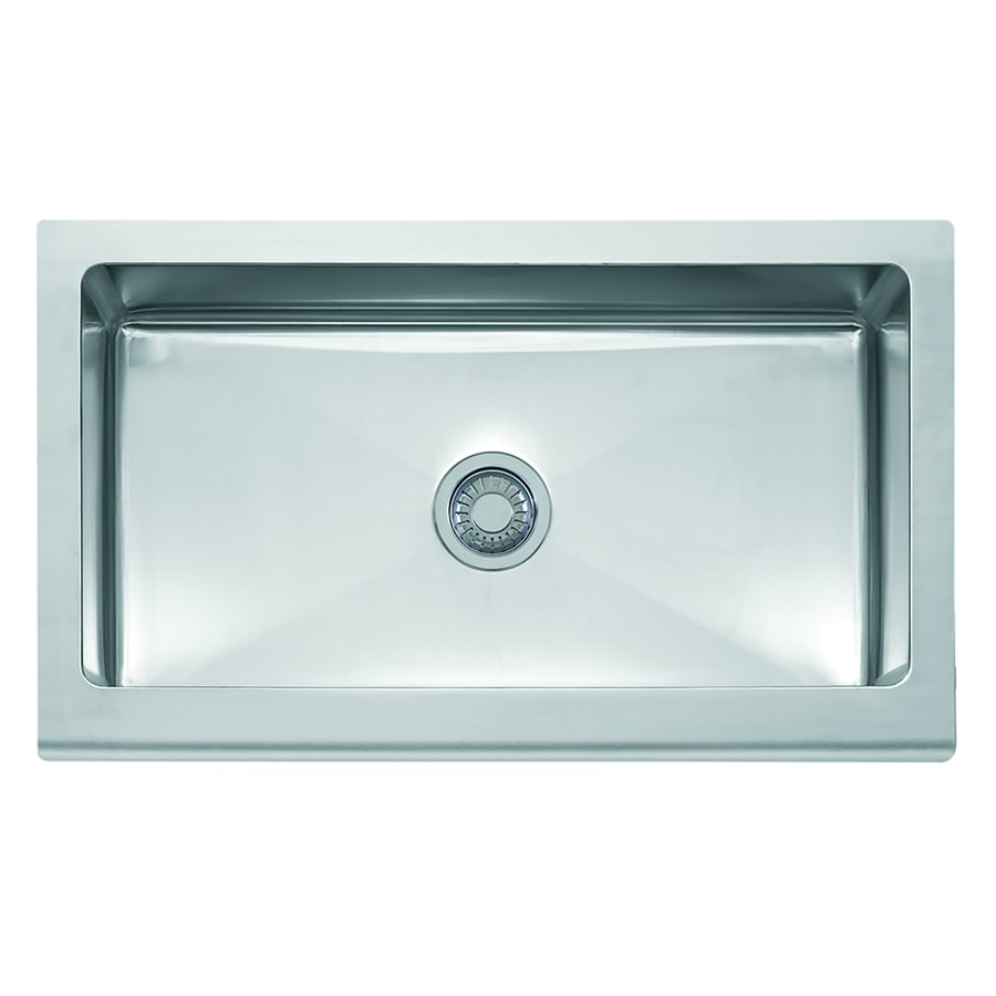 Franke Manor House 20.875-in x 36-in Stainless Steel Single-Basin Apron Front/Farmhouse Residential Kitchen Sink