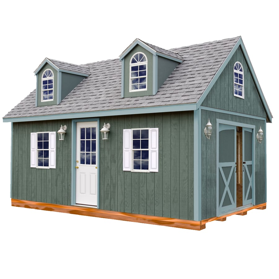 Arlington with Floor Gable Engineered Wood Storage Shed (Common: 12-ft x 16-ft; Interior Dimensions: 11.42-ft x 15.17-ft) Product Photo
