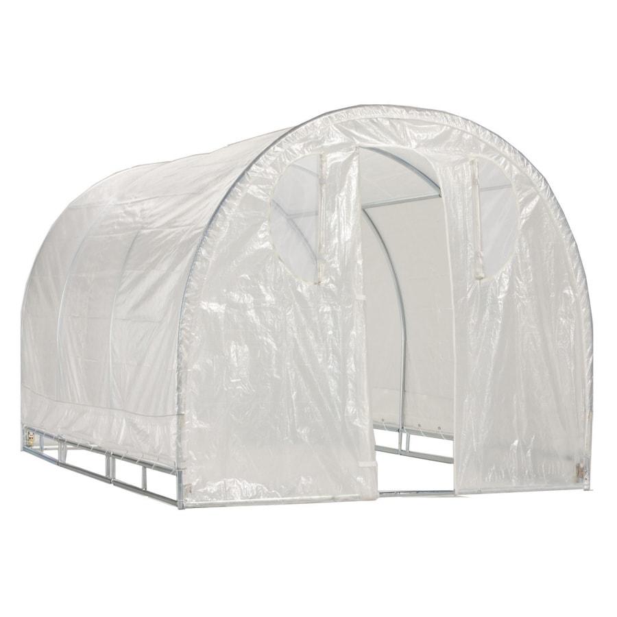 12-ft L x 8-ft W x 6.5-ft H Metal Poly Sheeting Greenhouse