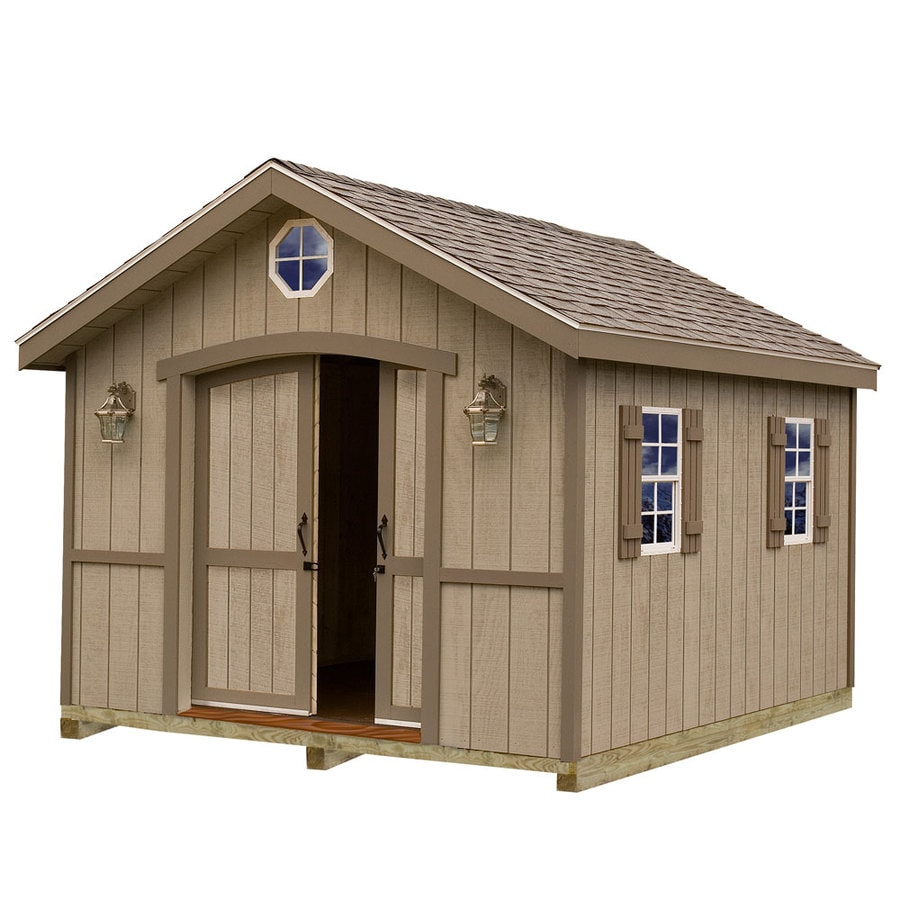 Best Barns Cambridge with Floor Gable Engineered Wood Storage Shed (Common: 10-ft x 12-ft; Interior Dimensions: 9.42-ft x 11.42-ft)