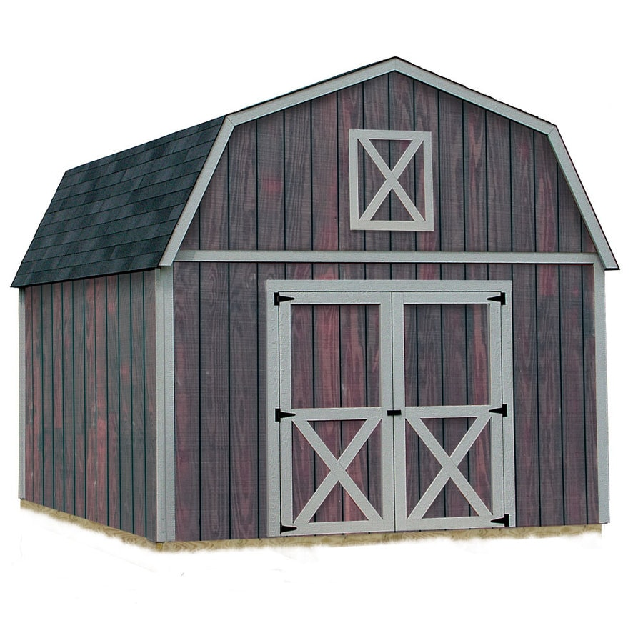 Best Barns Denver without Floor Gambrel Engineered Wood Storage Shed (Common: 12-ft x 16-ft; Interior Dimensions: 11.42-ft x 15.42-ft)