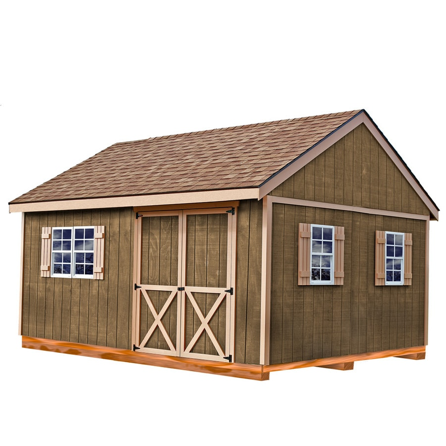 New Castle with Floor Gable Engineered Wood Storage Shed (Common: 12-ft x 16-ft; Interior Dimensions: 11.42-ft x 15.17-ft) Product Photo