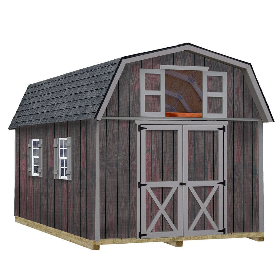 Best Barns Woodville with Floor Gambrel Engineered Wood Storage Shed (Common: 10-ft x 16-ft; Interior Dimensions: 9.42-ft x 15.17-ft)