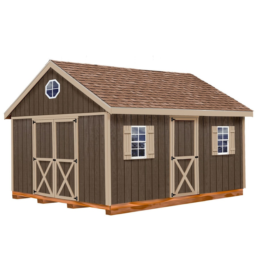 Best Barns Easton with Floor Gable Engineered Wood Storage Shed (Common: 12-ft x 16-ft; Interior Dimensions: 11.42-ft x 15.42-ft)