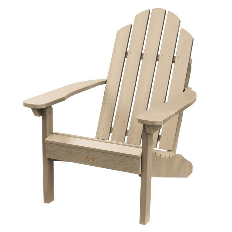 White Highwood AD-KITCLAS4-WHE Adirondack Chair with Ottoman and Cup Holder