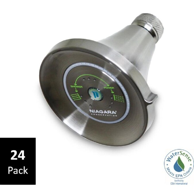 Niagara Conservation Earth Luxe Brushed Nickel 3 Spray Shower Head 24 Pack 1 25 Gpm 4 73 Lpm In The Shower Heads Department At Lowes Com