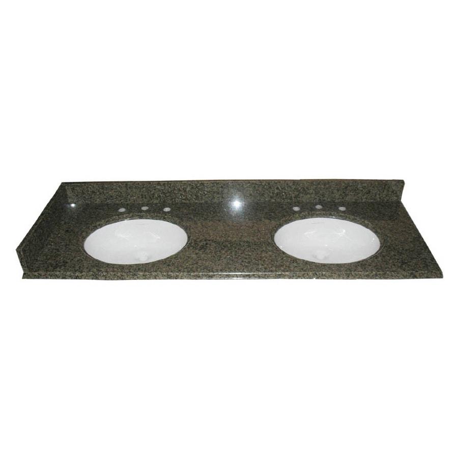 allen + roth Spring Green Granite Undermount Bathroom Vanity Top (Common: 61-in x 22-in; Actual: 61-in x 22-in)