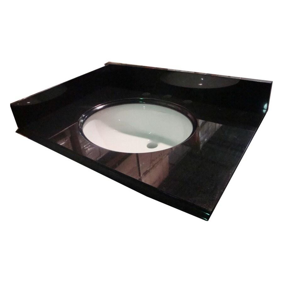 allen + roth Black Absolute Granite Undermount Bathroom Vanity Top (Common: 31-in x 22-in; Actual: 31-in x 22-in)