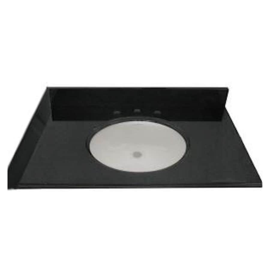 allen + roth Black Absolute Granite Undermount Bathroom Vanity Top (Common: 37-in x 22-in; Actual: 37-in x 22-in)