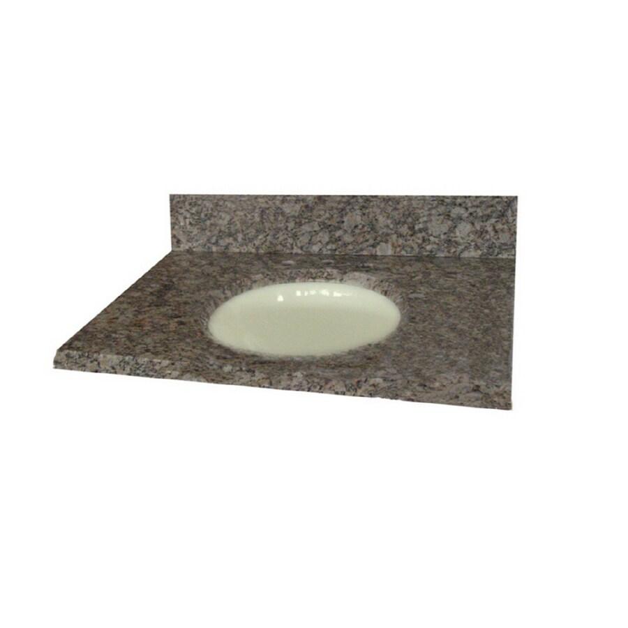 allen + roth Santa Cecilia Granite Undermount Bathroom Vanity Top (Common: 25-in x 22-in; Actual: 25-in x 22-in)