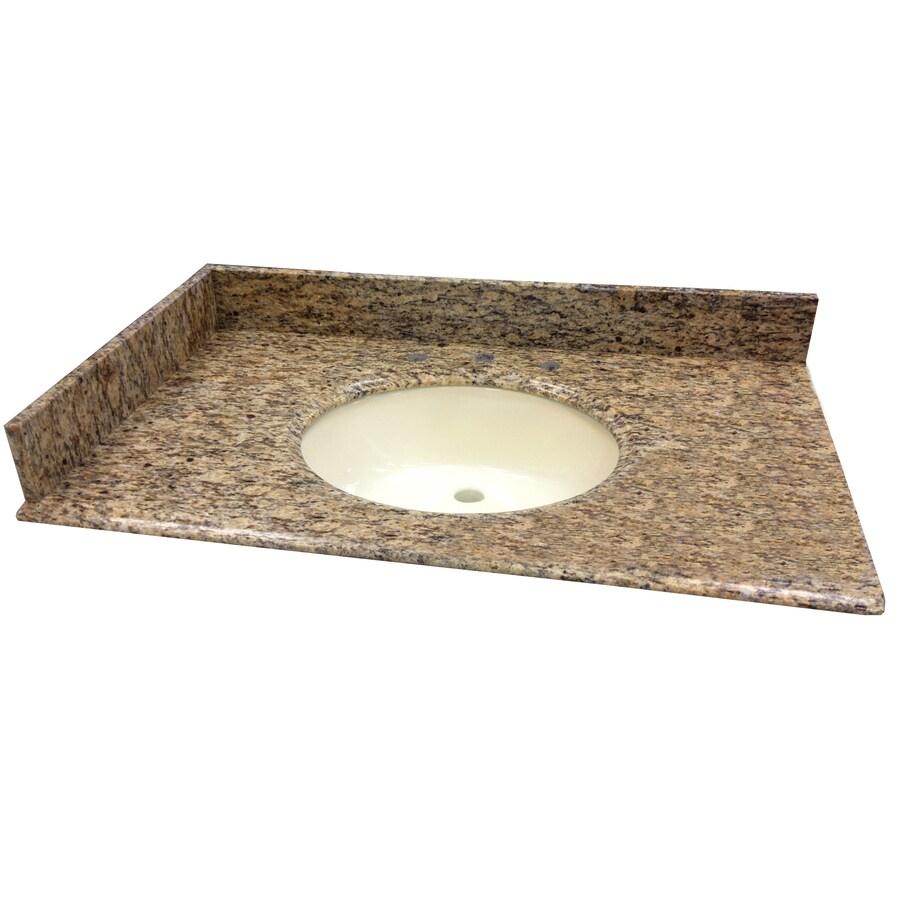 allen + roth Santa Cecilia Granite Undermount Bathroom Vanity Top (Common: 37-in x 22-in; Actual: 37-in x 22-in)