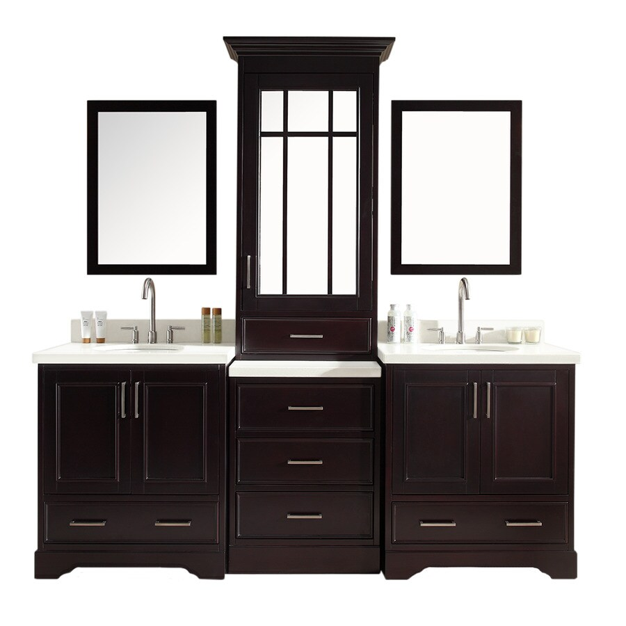 Shop Ariel Stafford Espresso Undermount Double Sink Asian