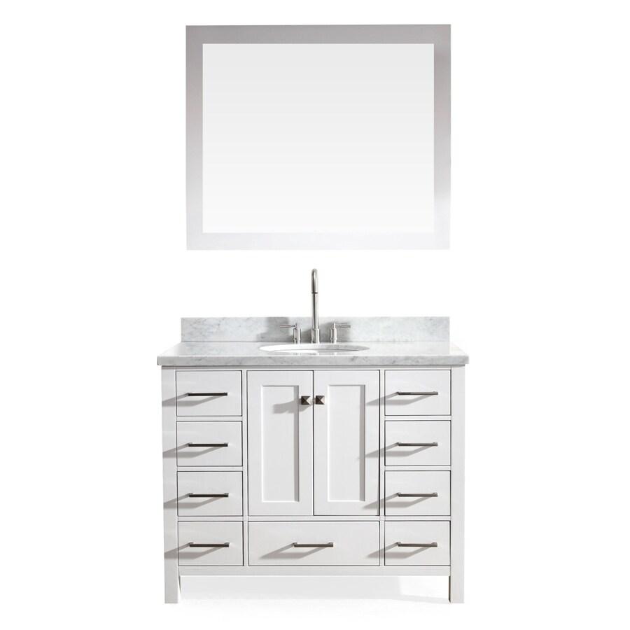 cambridge white undermount single sink asian hardwood bathroom vanity