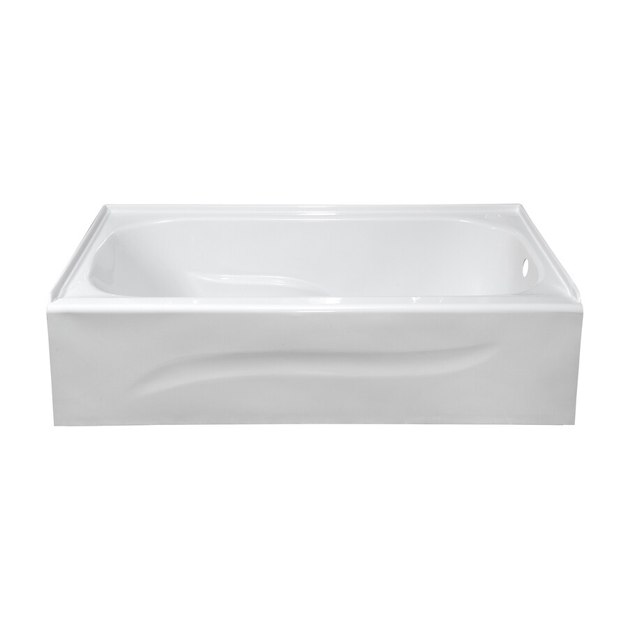 Style Selections White Acrylic Rectangular Skirted Bathtub with Right-Hand Drain (Common: 30-in x 60-in; Actual: 16-in x 30-in x 59.875-in)