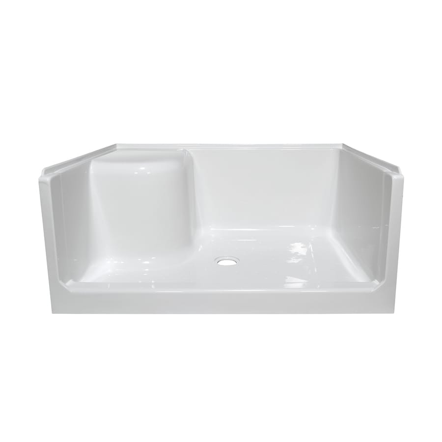 Style Selections White Acrylic Shower Base (Common: 34-in W x 48-in L; Actual: 34-in W x 47.875-in L)