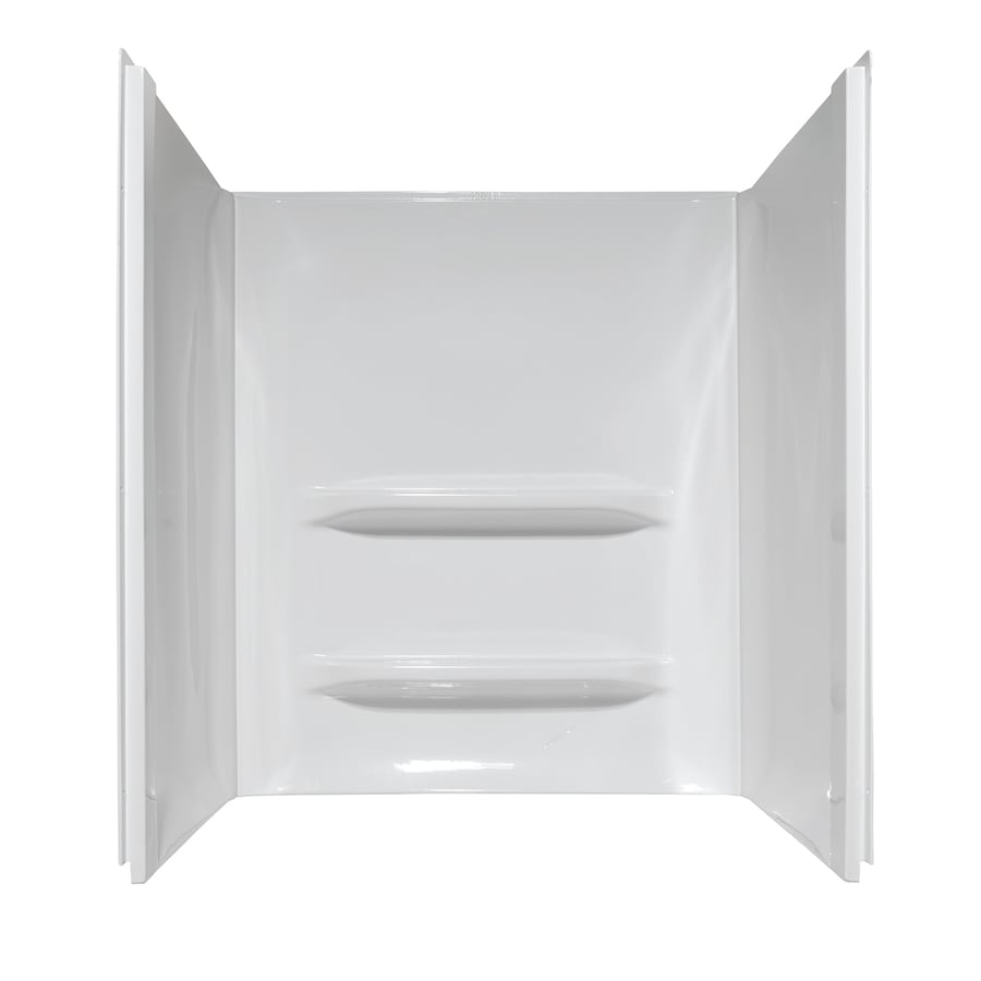 Style Selections Shower Surrounds White Shower Wall Surround Side and Back Panels (Common: 34-in; Actual: 53-in x 34-in)
