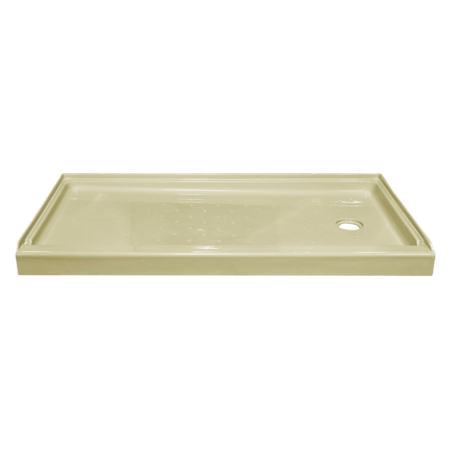 Style Selections Biscuit Acrylic Shower Base (Common: 32-in W x 60-in L; Actual: 32-in W x 59.875-in L)