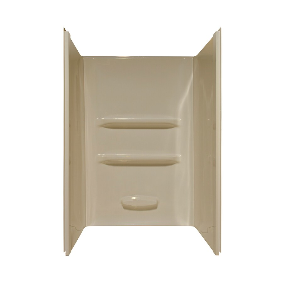 Style Selections Shower Surrounds Almond Shower Wall Surround Side and Back Panels (Common: 34-in; Actual: 69-in x 34-in)