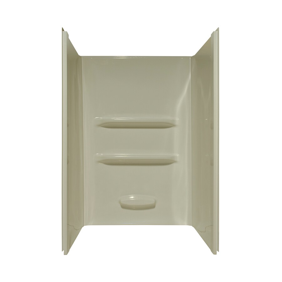 Style Selections Shower Surrounds Biscuit Shower Wall Surround Side and Back Panels (Common: 34-in; Actual: 69-in x 34-in)