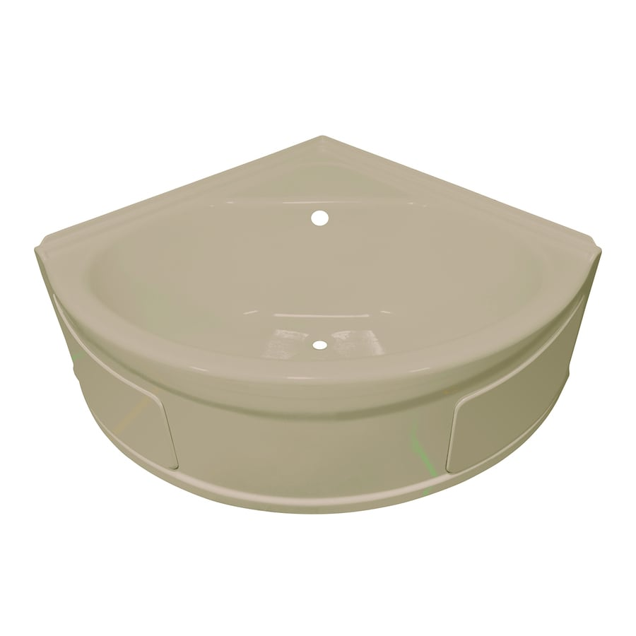 Shop style selections acrylic corner skirted bathtub with for Lyons whirlpool tub