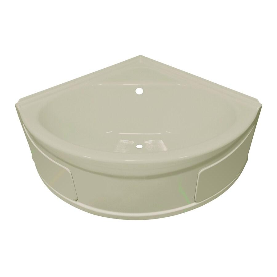 shop style selections acrylic corner skirted bathtub with