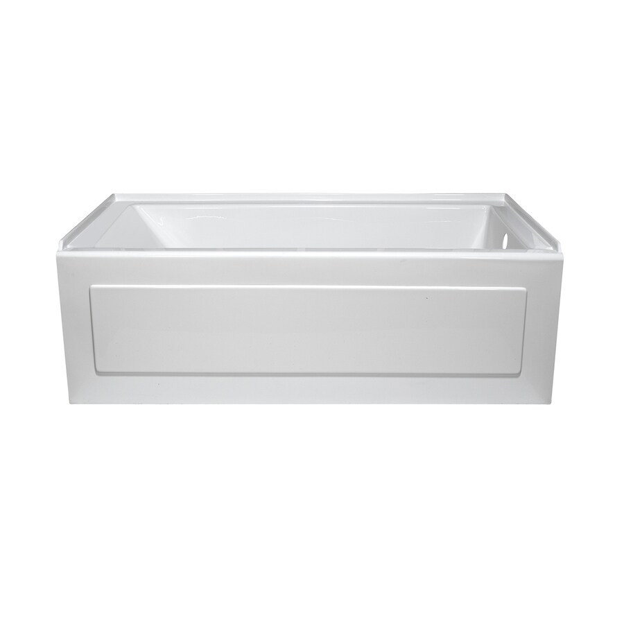 Style Selections White Acrylic Rectangular Whirlpool Tub (Common: 32-in x 60-in; Actual: 19-in x 32-in x 59.875-in)