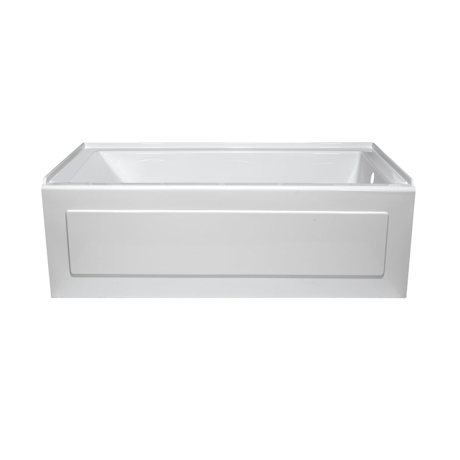 Style Selections White Acrylic Rectangular Alcove Bathtub with Right-Hand Drain (Common: 32-in x 60-in; Actual: 19-in x 32-in x 59.875-in)