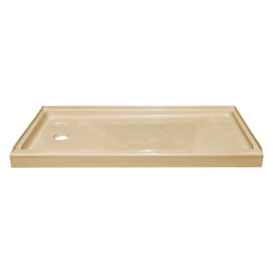 Style Selections Almond Acrylic Shower Base (Common: 27-in W x 54-in L; Actual: 27-in W x 53.875-in L)