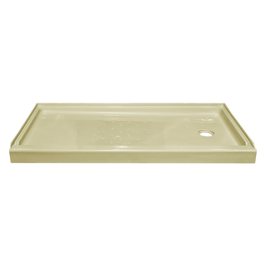 Style Selections Biscuit Acrylic Shower Base (Common: 27-in W x 54-in L; Actual: 27-in W x 53.875-in L)